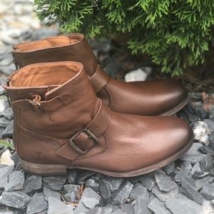 Frye Tyler Cognac ankle boots new no box
